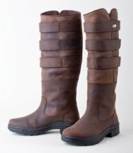 Ladies Rhinegold 'Elite' Colorado Leather Country Boots BROWN